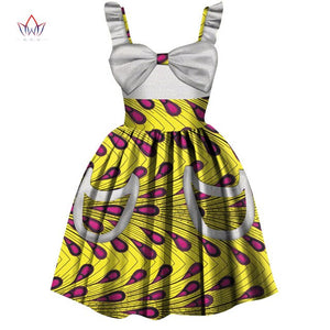 2019 African Women Clothing kids dashiki Traditional cotton Dresses Matching Africa Print dresses Children Summer BRW WYT306