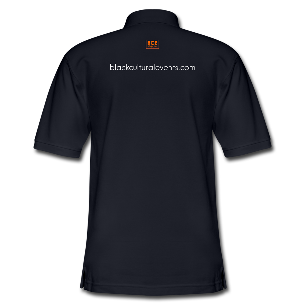 Black Cultural Events Men's Pique Polo Shirt - midnight navy