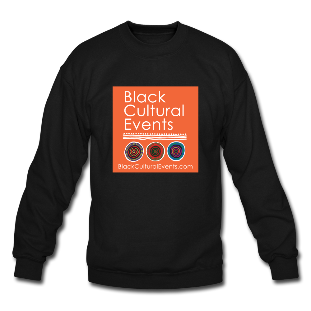 Black Cultural Events Crewneck Sweatshirt - black