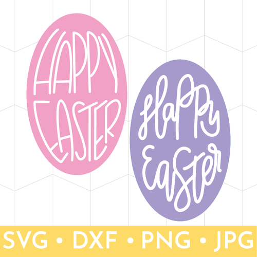 Happy Easter Eggs - Hand Lettered