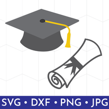 Graduation Hat & Diploma SVG