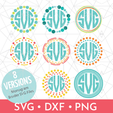Circle Monogram Border Designs Bundle