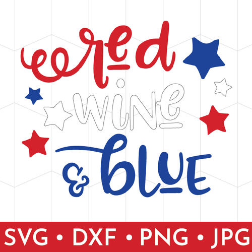 Patriotic Wine Glass Decal