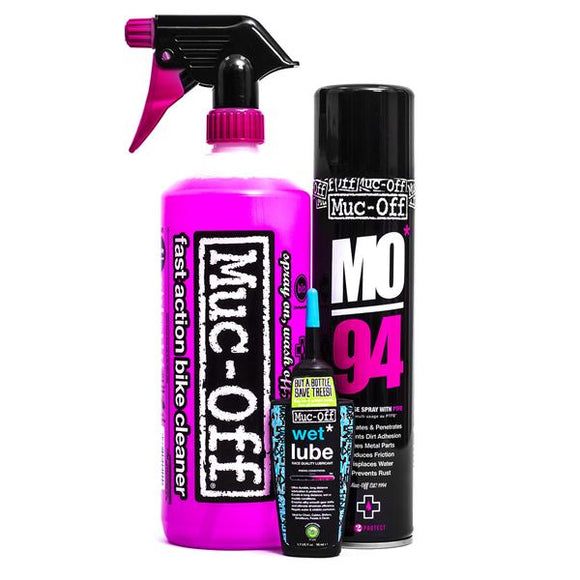 Komplet za pranje, zaščito in mazanje MUC-OFF Wash, Protect & Lube Kit