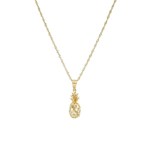 Made in Hawaii - Pineapple Necklace - 14K Yellow Gold - Hawaiian Jewelry Boutique
