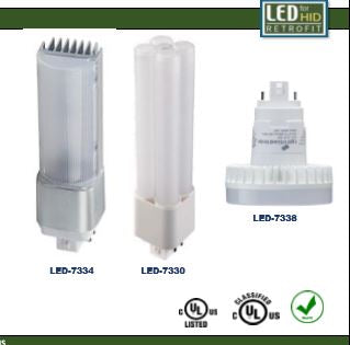 4 Pin Electronic Ballast PL Lamp Retrofits - Type A -Light Efficient Design