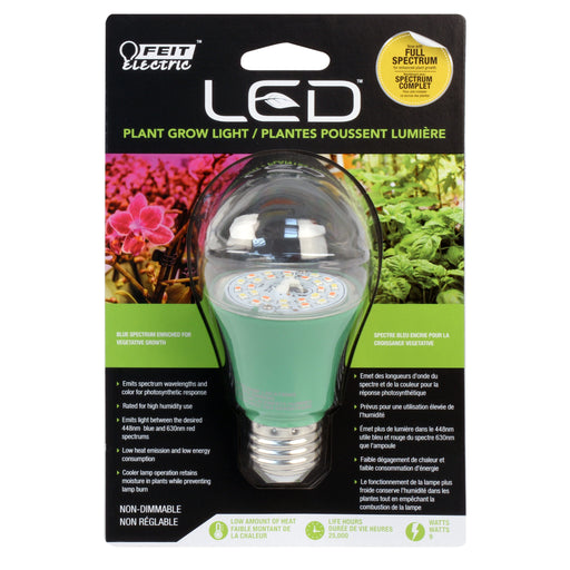 A19 Grow Light, 9W -FEIT