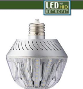 45W Post Top Retrofit -Light Efficient Design