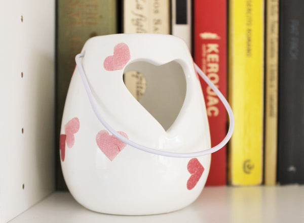Mother's day gift, tealight holder, Heart candle holder, Candle holder, Romantic tealight, Emma Bridgewater, Pink Heart, Shabby chic