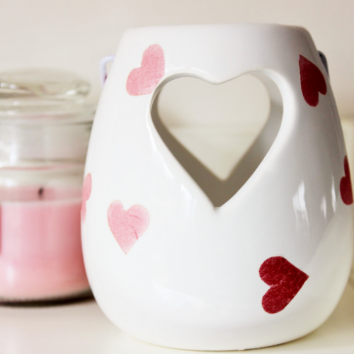 Cut Out Heart Tea Light Holder - Country & Shabby details