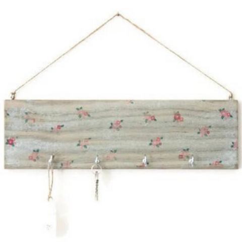 Wall key holder 'BLUE FLOWERS' - Country & Shabby details