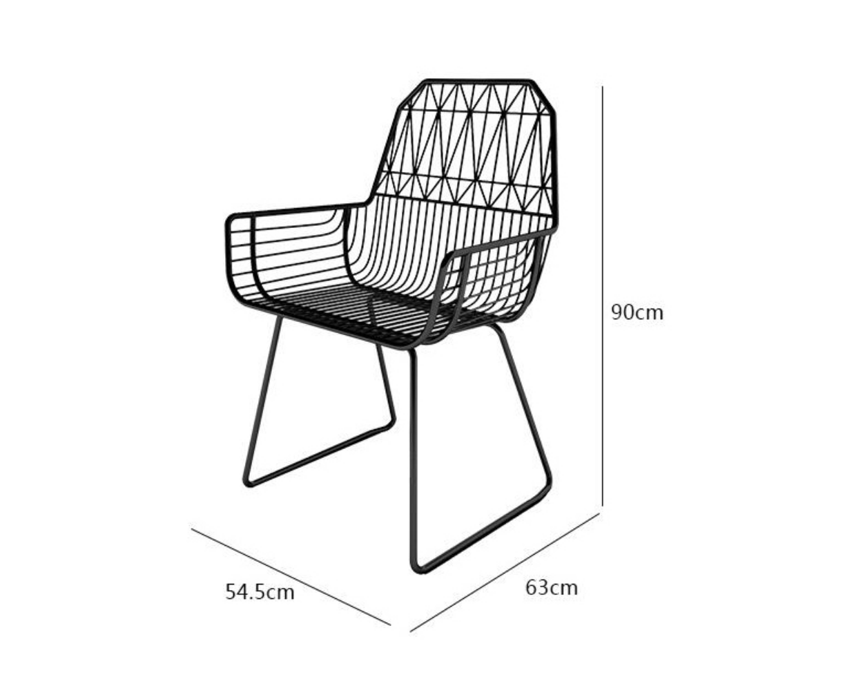 Metal Wire Chair Dimensions