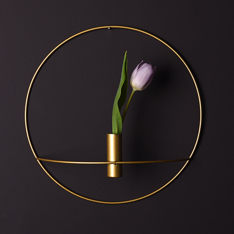 Golden Nordic Hanging Round Flower Vase - Essential Modern Home