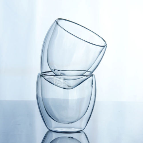 150-450ML Glass Double Wall Insulated Thermal Cup