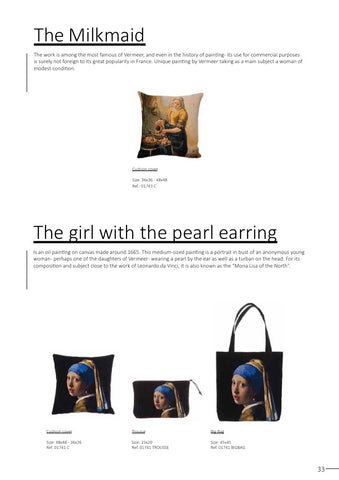 The Milkmaid, The Girl with the Pearl Earing