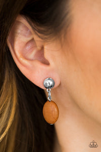 Stone Cliffs Brown Post Earring