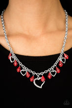 Keep Me In Your Heart Red Necklace