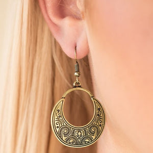 Noble Native Brass Earrings