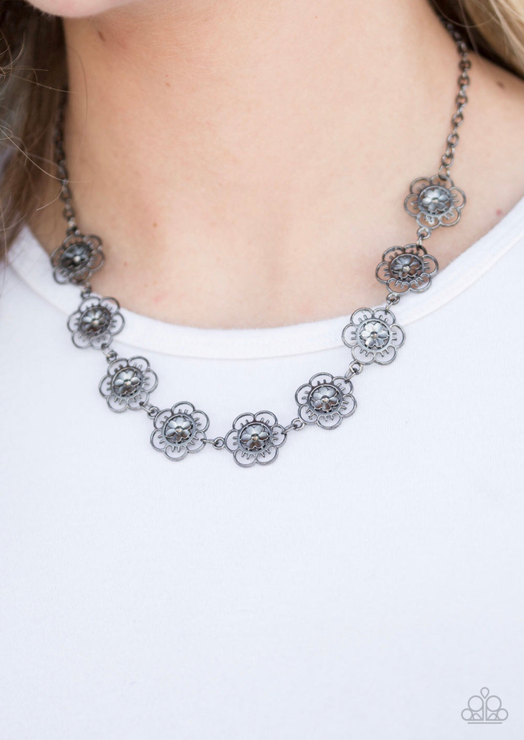 """BLOOM or Bust - Black"" Necklace"