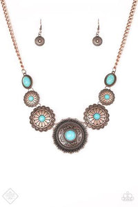 Mayan Marvel Copper/Blue Necklace