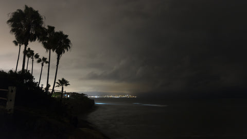 California Timelapse - Night Cliffs at La Jolla