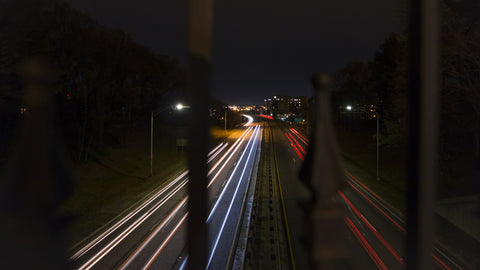 Birmingham Timelapse - Red Mountain Expressway at Night - Dolly Shot