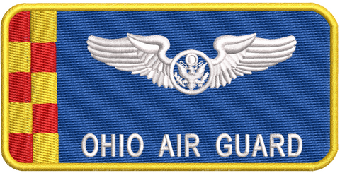 Ohio Air Guard Blue Sensor Name Tag - Reaper Patches