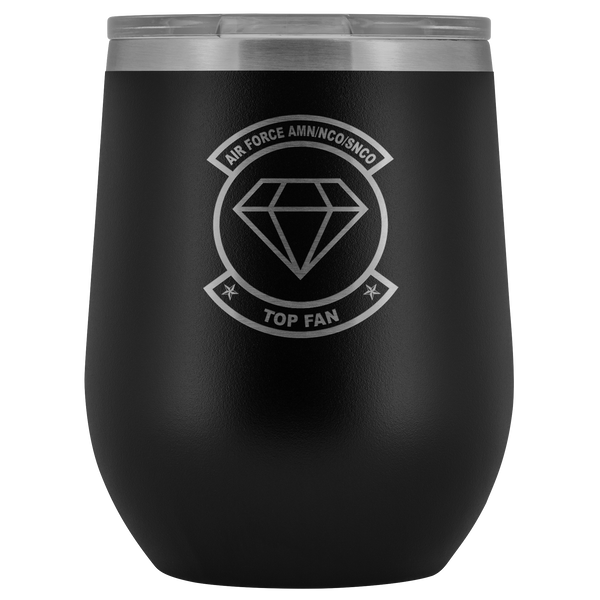 Air Force amn/nco/snco wine/whisky/beer top fan Tumblers