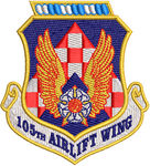 105th Airlift Wing - Reaper Patches
