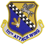 111th Attack Wing - Reaper Patches
