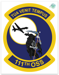 111th Operations Support Squadron - Zap - Reaper Patches