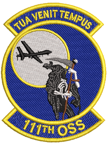 111th OSS (TUA VENIT TEMPUS) Patch - Reaper Patches
