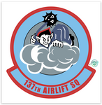 137th Airlift Squadron - Zap - Reaper Patches