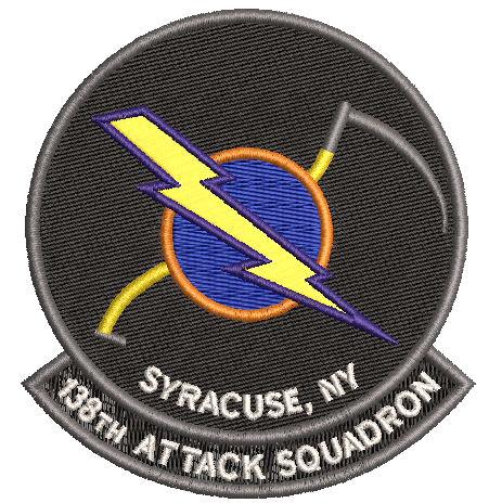 138th Attack Squadron Patch (NYANG) - Reaper Patches