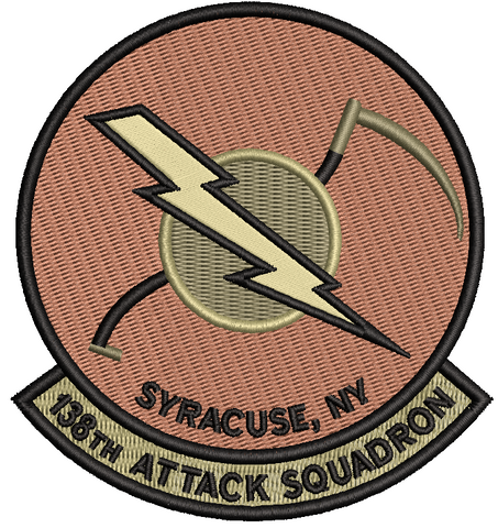 138th Attack Squadron Patch (NYANG) OCP (unofficial) - Reaper Patches