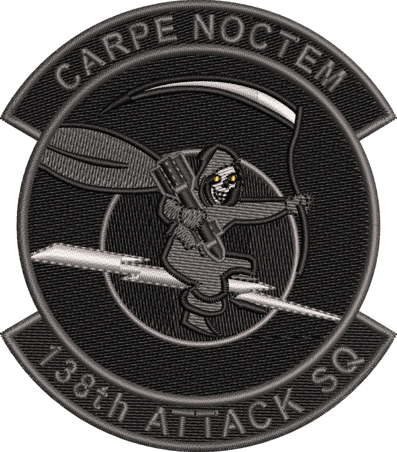 138th Attack Squadron Patch (NYANG) Blackout CARPE NOCTEM - 2020