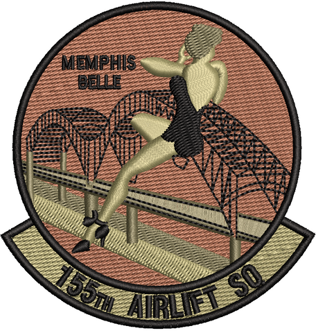 155th Airlift Squadron Patch - OCP