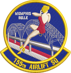 155th Airlift Squadron Patch -Color