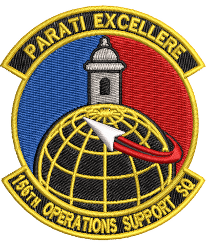 156th Operations Support Squadron (PRANG) - Reaper Patches