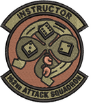 162nd Attack Squadron (ATKS) Patch OCP Unofficial INSTRUCTOR
