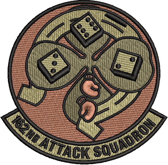 162nd Attack Squadron (ATKS) Patch OCP Unofficial - Reaper Patches