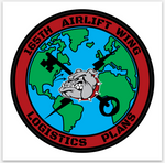 165th Airlift Wing - Logistics Plans -  (Sticker)