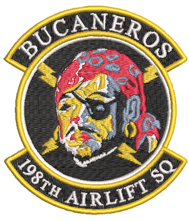 198th Airlift Sq Bucaneros - Reaper Patches