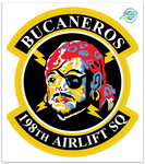 198th Airlift Sq Bucaneros - Zap - Reaper Patches