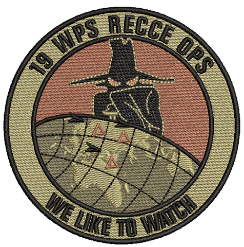 19 WPS RECCE OPS- We Like to Watch OCP - Reaper Patches