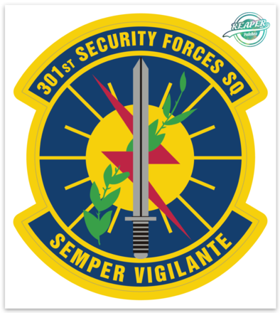 301st Security Forces Squadron- Zap - Reaper Patches