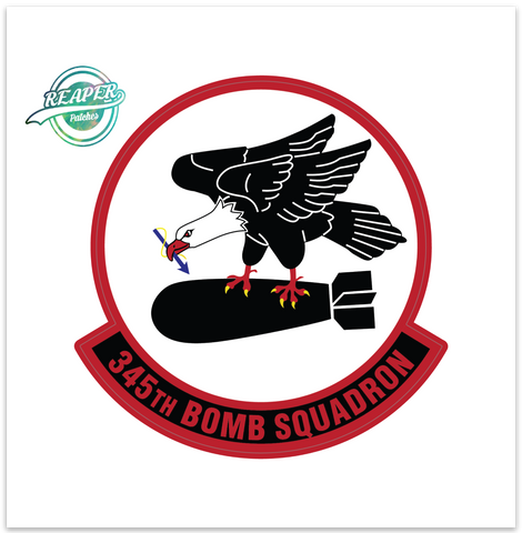 345th Bomb Squadron - Zap - Reaper Patches