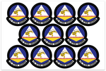 "42d Attack Squadron - Zap 6x4"" sheet - Reaper Patches"