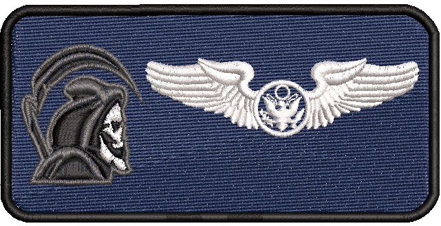 42d Attack Squadron Enlisted Aircrew- Friday Name Tag - Reaper Patches