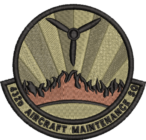432d Aircraft Maintenance Squadron OCP (unofficial) - Reaper Patches